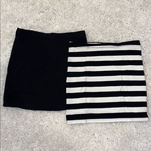 Bundle of 2 H&M Basics Mini Skirts. Size XS